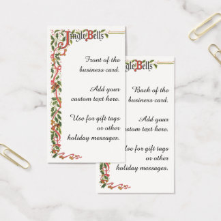 Navidad del vintage, frontera decorativa de los tarjeta de visita
