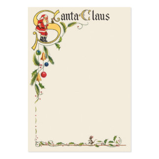 Navidad del vintage, frontera decorativa de Papá Plantillas De Tarjeta De Negocio
