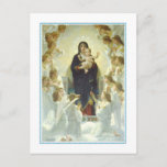 Navidad del vintage, la Virgen con ángeles