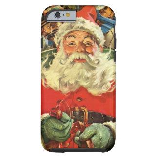 Navidad del vintage, Papá Noel en trineo con los Funda Para iPhone 6 Tough