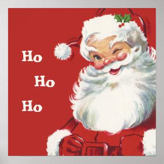 Navidad del vintage, Papá Noel Poster