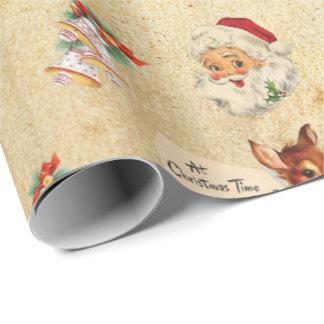 Navidad del vintage papel de regalo