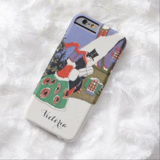 Navidad del vintage, pares del Victorian que van a Funda Para iPhone 6 Barely There