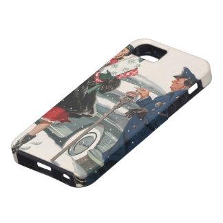 Navidad del vintage, policía de los presentes que iPhone 5 fundas