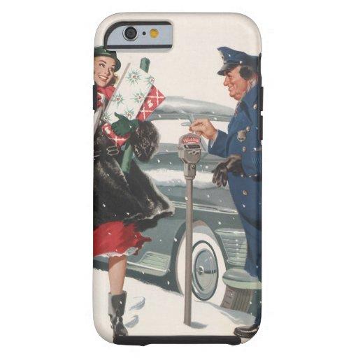 Navidad del vintage, policía de los presentes que funda de iPhone 6 tough