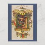 Navidad del vintage que saluda la postal