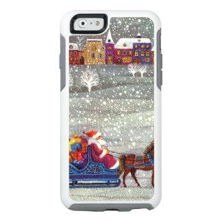 Navidad del vintage, trineo abierto del caballo de funda otterbox para iPhone 6/6s