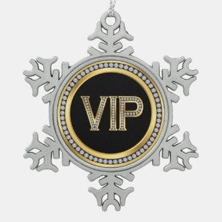 Navidad del VIP del diamante del oro Adorno De Peltre En Forma De Copo De Nieve