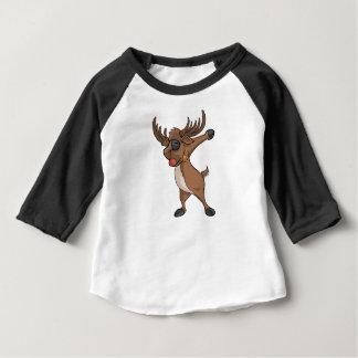 Navidad divertido de la camiseta del reno del