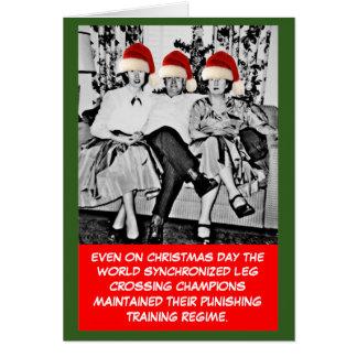 Navidad divertido de la foto felicitacion