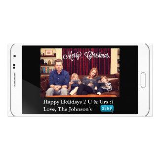 Navidad divertido de Texting horizontal Tarjeta Fotografica Personalizada