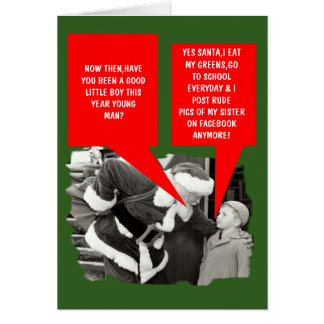 Navidad divertido del facebook tarjeta de felicitación