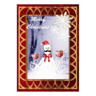 Navidad divertido del pulpo de Santa del muñeco de Tarjetas De Visita Grandes