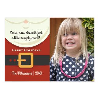 Navidad divertido foto traviesa y Niza de Papá Invitación 12,7 X 17,8 Cm