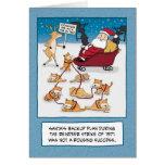 Navidad divertido: Gatos del trineo de Santa Tarjeta De Felicitación