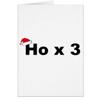 Navidad divertido Ho Ho Ho Felicitaciones