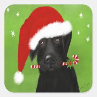 Navidad divertido Labrador, pegatina del perro