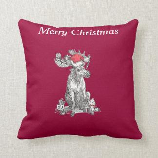 Navidad divertido lindo que sienta los regalos de cojín