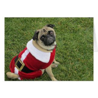 Navidad divertido que saluda tarjeta de felicitación