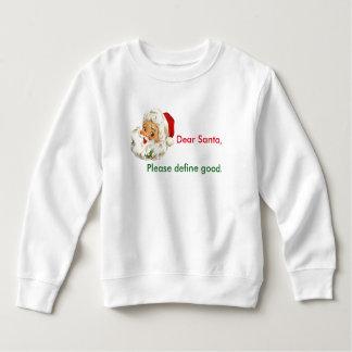 Navidad divertido Santa de la camiseta del niño
