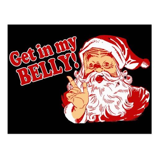 Navidad divertido Santa Postales