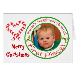 Navidad divertido tarjeta de encargo de la foto y