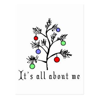 Navidad divertido tarjeta postal