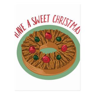 Navidad dulce postal