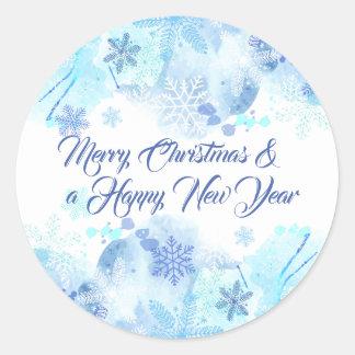 Navidad elegante y pegatina del Año Nuevo