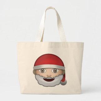 Navidad Emoji del padre Bolsa Tela Grande