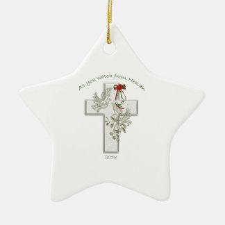 Navidad en el cielo 2013 adorno navideño de cerámica en forma de estrella