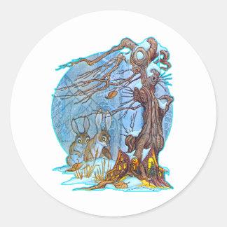 Navidad en el pegatina de Pasillo del duende