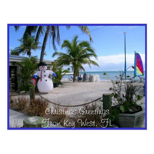 Navidad en Key West, FL Postal