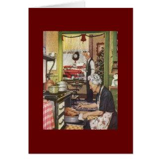 Navidad en la abuela y el abuelo - saludo del Ca Tarjeta De Felicitación