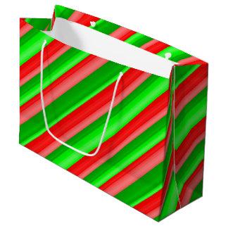 Navidad escarchado bolsa de regalo grande