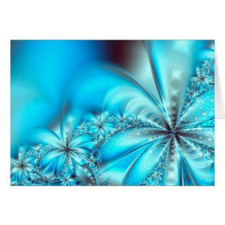 Navidad escarchado del fractal tarjeta de felicitación