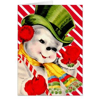 Navidad escarchado tarjeta de felicitación