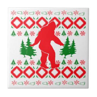 Navidad fea Bigfoot Azulejo De Cerámica