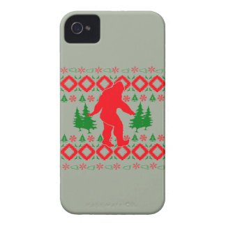 Navidad fea Bigfoot Funda Para iPhone 4 De Case-Mate