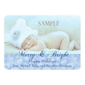 Navidad Felices y brillantes del copo de nieve Invitación 12,7 X 17,8 Cm
