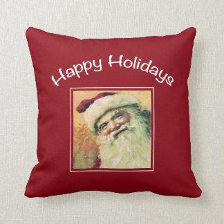 Navidad feliz del Día de fiesta-Vintage de Santa Cojín