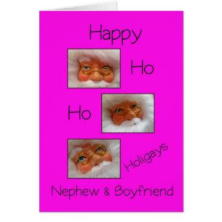 Navidad feliz del gay de los holigays del sobrino  tarjeta de felicitación