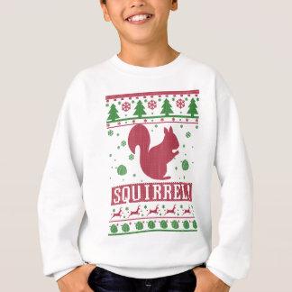 Navidad feo de la ardilla sudadera