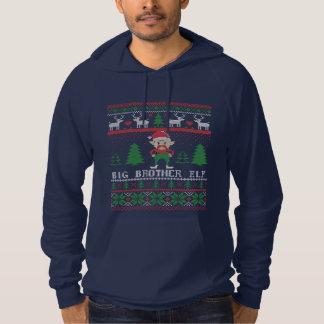 Navidad feo del duende de hermano mayor sudadera