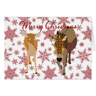 Navidad festivo de los amigos del bosque que tarjeta de felicitación