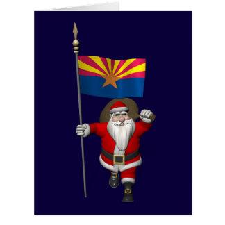 Navidad festivo del padre que visita Arizona Tarjeta De Felicitación Grande