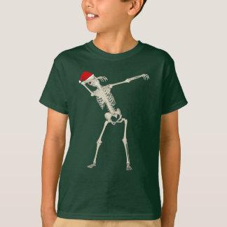 Navidad fresco lindo que frota divertido camiseta
