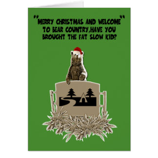 Navidad gordo divertido del chiste tarjeta de felicitación