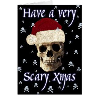Navidad gótica del navidad del cráneo de la tarjeta