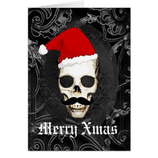 Navidad gótico divertido de Santa Tarjeta Pequeña